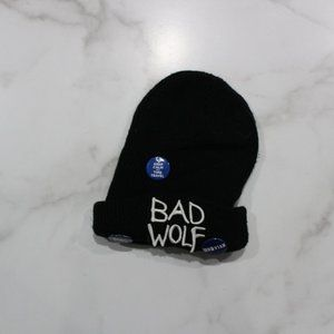 Doctor Who Bad Wolf Black Beanie Hat w/ Pins